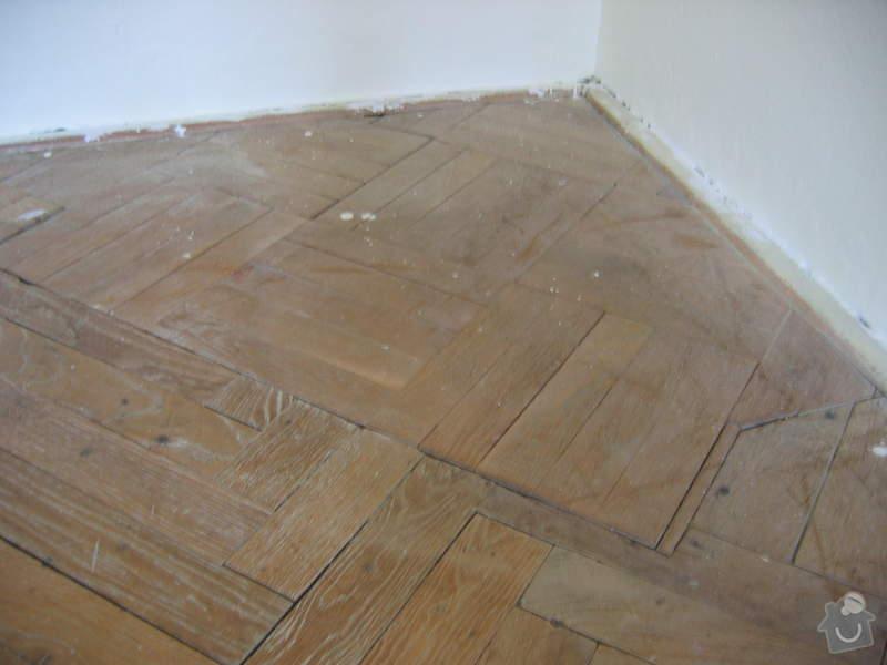 Renovace dubových parket: podlaha_pred