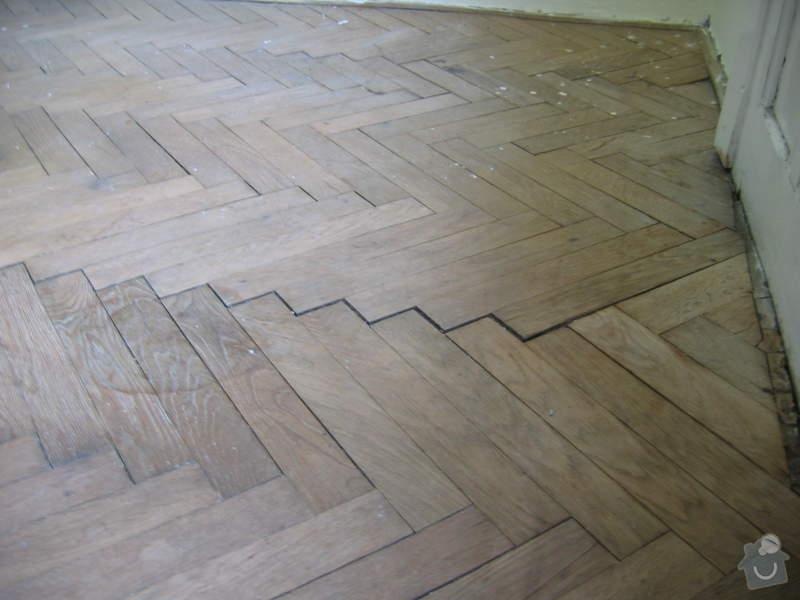 Renovace dubových parket: podlaha_pred2