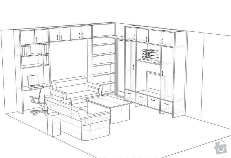 Nábytek do obývacího pokoje: 14014_Hradkova_navrh2