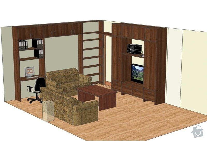 Nábytek do obývacího pokoje: 14014_Hradkova_navrh1