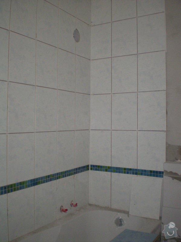 Výstavba nové koupelny a rekonstrukce kuchyně: P1010262