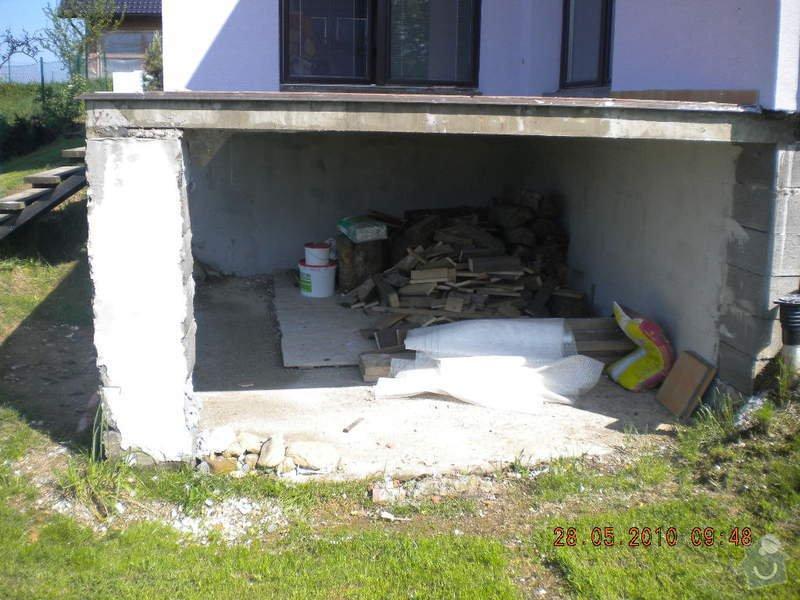 Zaizolování venkovní terasy a znovu položení dlaždic: DSCN1348