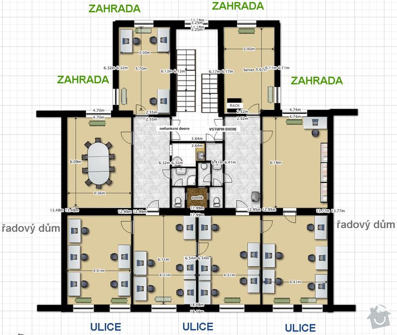 Klimatizační vzduchotechniku do celé kanceláře o rozloze 240m2: GoodData_IV.NP_240m