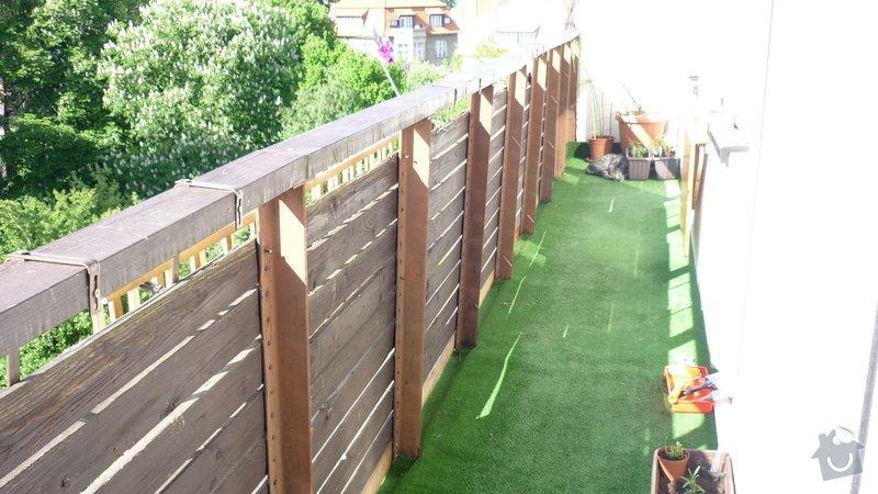 Výměna dřevěného zábradlí na balkóně: balkon