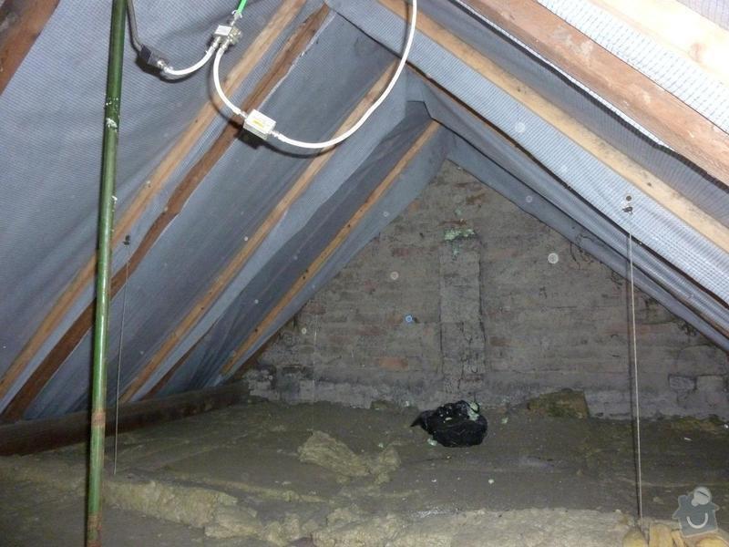 Rekonstrukce stropu a podlahy  v půdním prostoru: P1020499