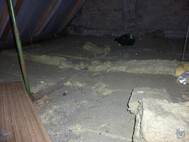 Rekonstrukce stropu a podlahy  v půdním prostoru: P1020500