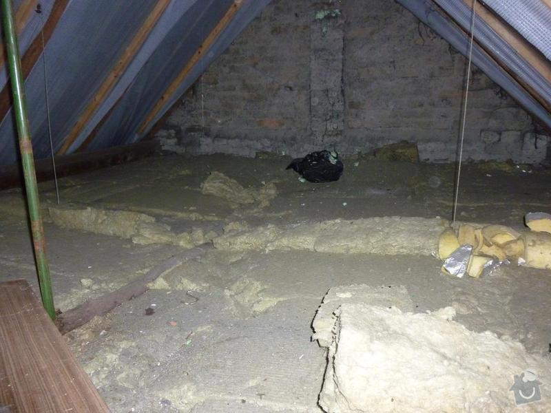Rekonstrukce stropu a podlahy  v půdním prostoru: P1020505