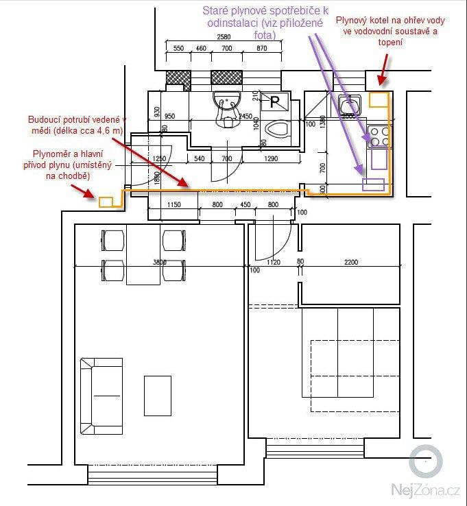 Plyn - rozvod plynového potrubí a zapojení instalace kotle: BYT_plnyove_rozvody_JMU