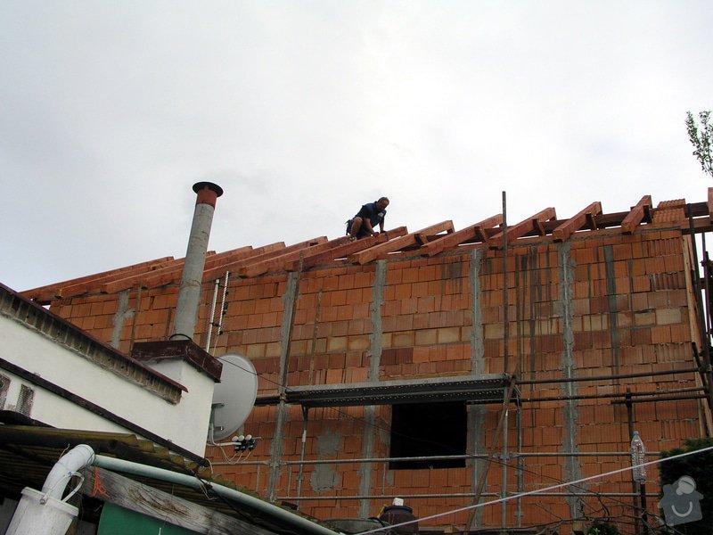 Výstavba RD Troja Praha 8: hruba_stavba