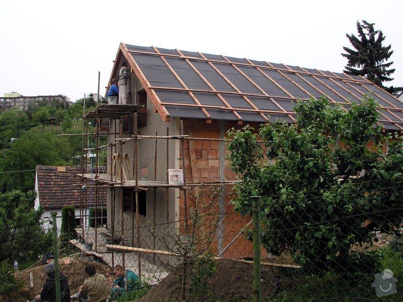 Výstavba RD Troja Praha 8: strecha