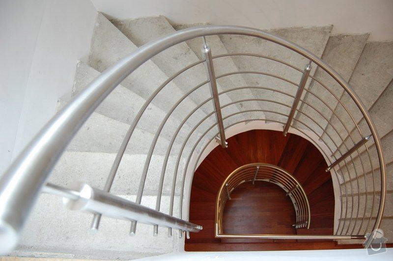 Nerezové zábradlí točitého schodiště: 04