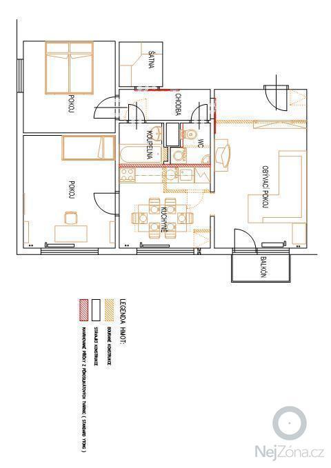 Rekonstrukce bytového jádra: byt-tomba