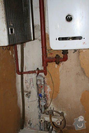 Plyn a topení - rozvod plynového potrubí, zapojení a instalace kotle + rozvod topenářského potrubí a instalace radiátorů: IMG_0016