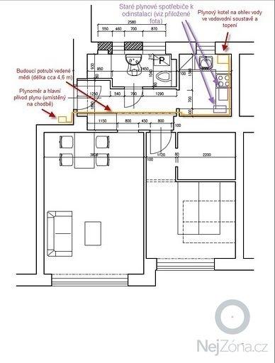 Plyn a topení - rozvod plynového potrubí, zapojení a instalace kotle + rozvod topenářského potrubí a instalace radiátorů: plny_rozvod