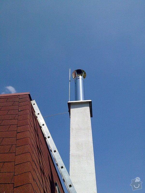 Hromosvod na komín vedle rodinného domu: 30052011163