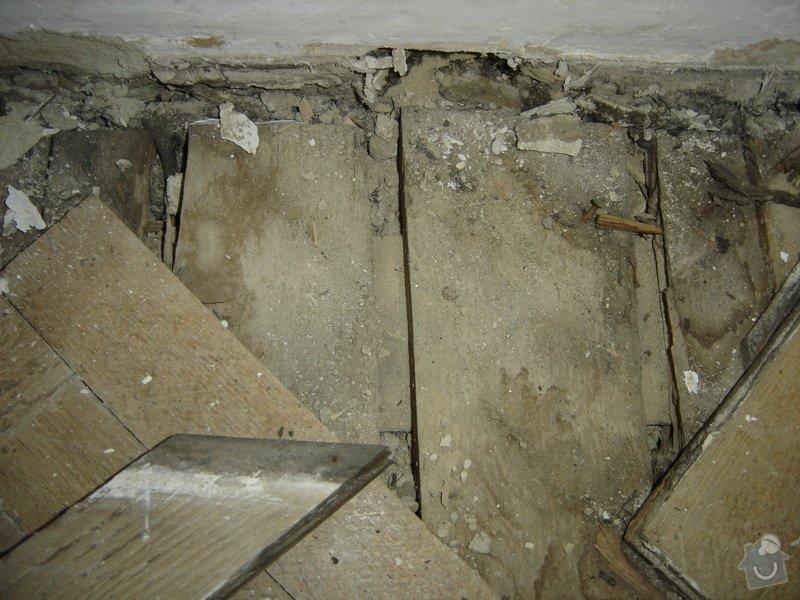 Rekonstrukce staré podlahy, původně parkety, cca 20m2: DSC03130