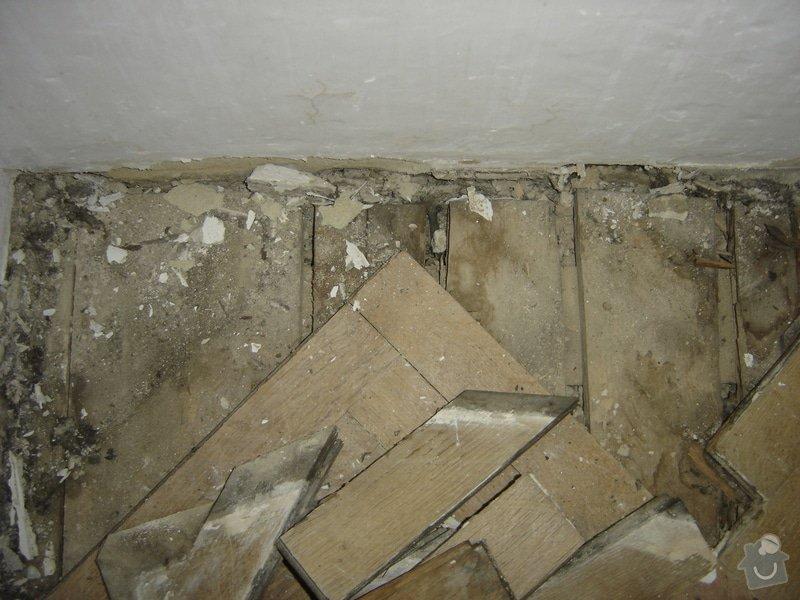Rekonstrukce staré podlahy, původně parkety, cca 20m2: DSC03127