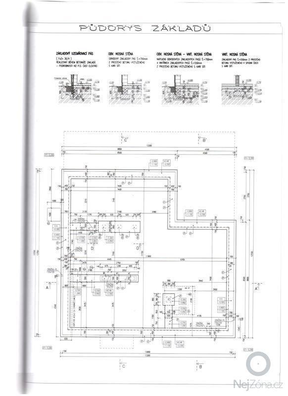 Zhotovení základové desky: pudorys