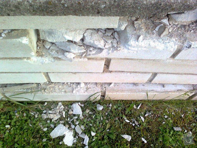 Oprava zděného plotu po havárii: Fotografie0030