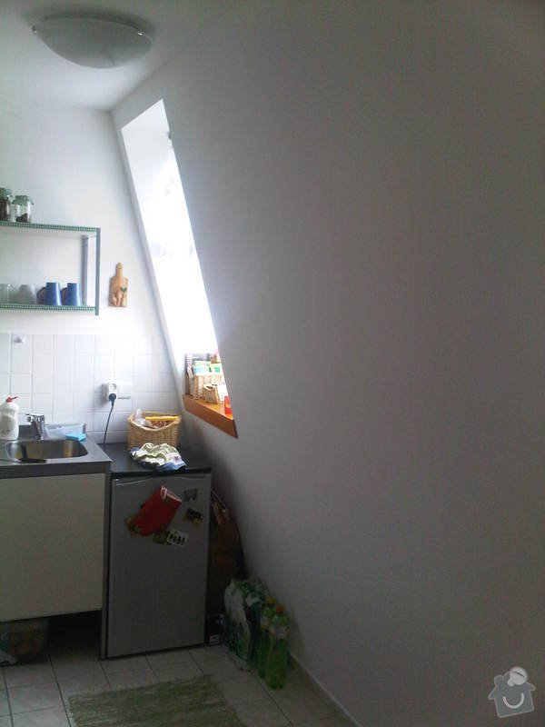 Oprava tepelné izolace v podkrovném bytě: Kuchyn