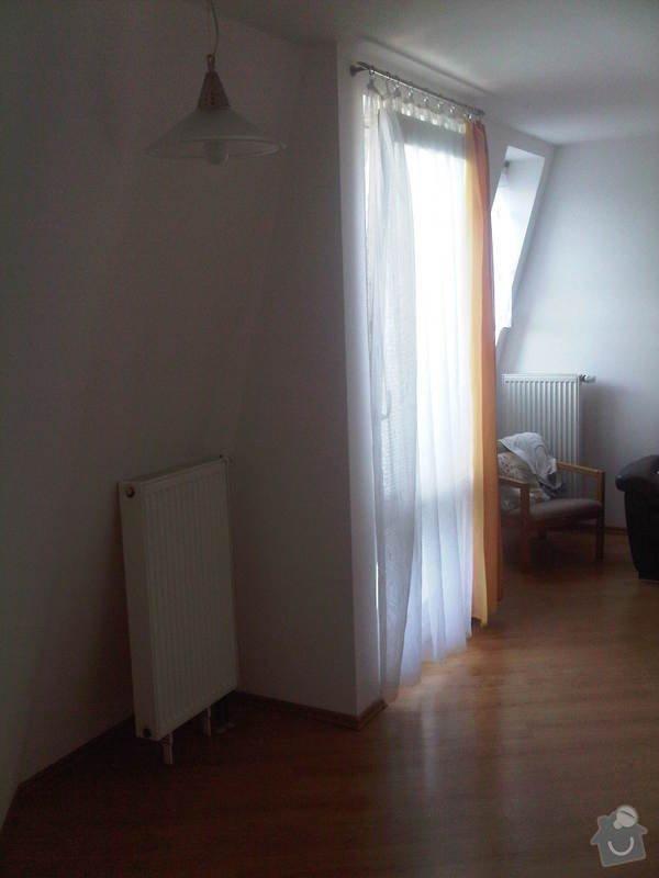 Oprava tepelné izolace v podkrovném bytě: Pohled_z_kuchyne