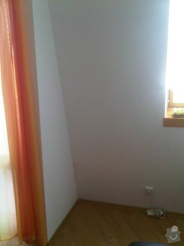 Oprava tepelné izolace v podkrovném bytě: Zed_vystupu_na_balkon