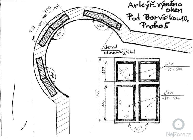 Výměna oken: Arkyr_nakres