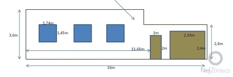 Sanační omítka - Fasáda na čelo domu v MPR: rozmery