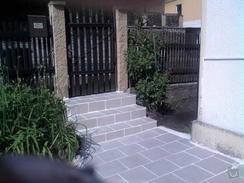 Pokladka dlažby a obložení schodu : Fotografie0109