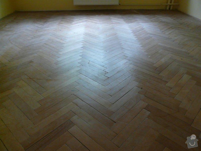 Vyrovnani podlahy (parkety) a polozeni plovouci podlahy: pred1