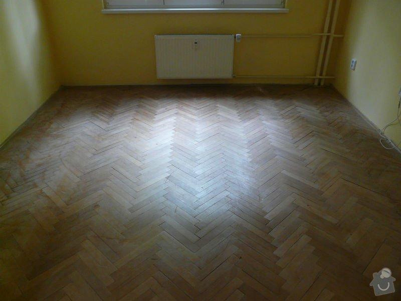 Vyrovnani podlahy (parkety) a polozeni plovouci podlahy: pred2