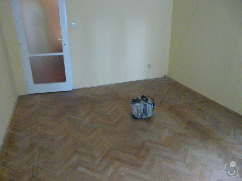 Vyrovnani podlahy (parkety) a polozeni plovouci podlahy: pred3