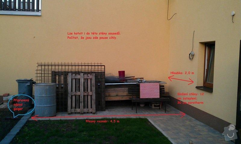 Stavba pergoly - zastřešeného posezení: Prostor_pro_pergolu_-_stena_sousedu_1_