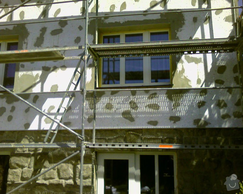 Povrchové úpravy fasád včetně zateplení obvodového pláště budov podle tech.postupu Mystrál,Baumit,polyst,vata: Foto-0012