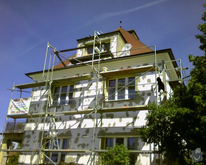 Povrchové úpravy fasád včetně zateplení obvodového pláště budov podle tech.postupu Mystrál,Baumit,polyst,vata: Foto-0013