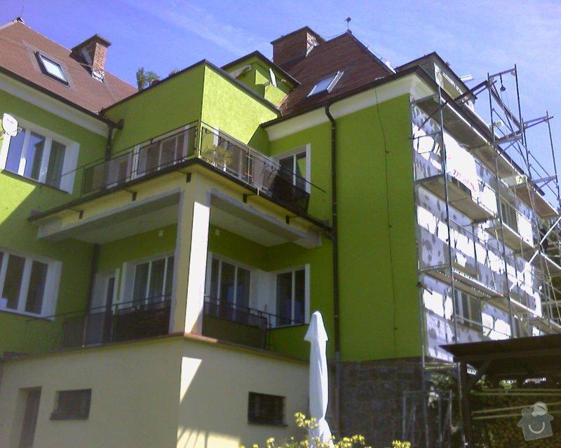 Povrchové úpravy fasád včetně zateplení obvodového pláště budov podle tech.postupu Mystrál,Baumit,polyst,vata: Foto-0021