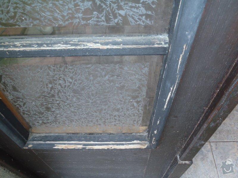 Renovace vstupních dveří.: P6110230