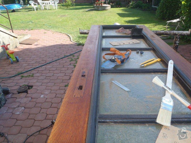 Renovace vstupních dveří.: P6120261