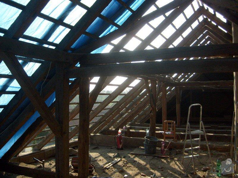Předmětem zakázky bylo kompletní zhotovení nového krovu dle projektu.: S6303601