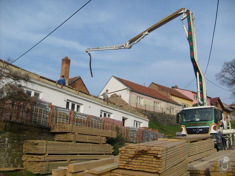 Předmětem zakázky bylo kompletní zhotovení nového krovu dle projektu.: S6303638