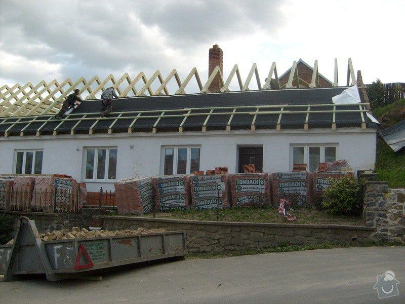 Předmětem zakázky bylo kompletní zhotovení nového krovu dle projektu.: S6303692