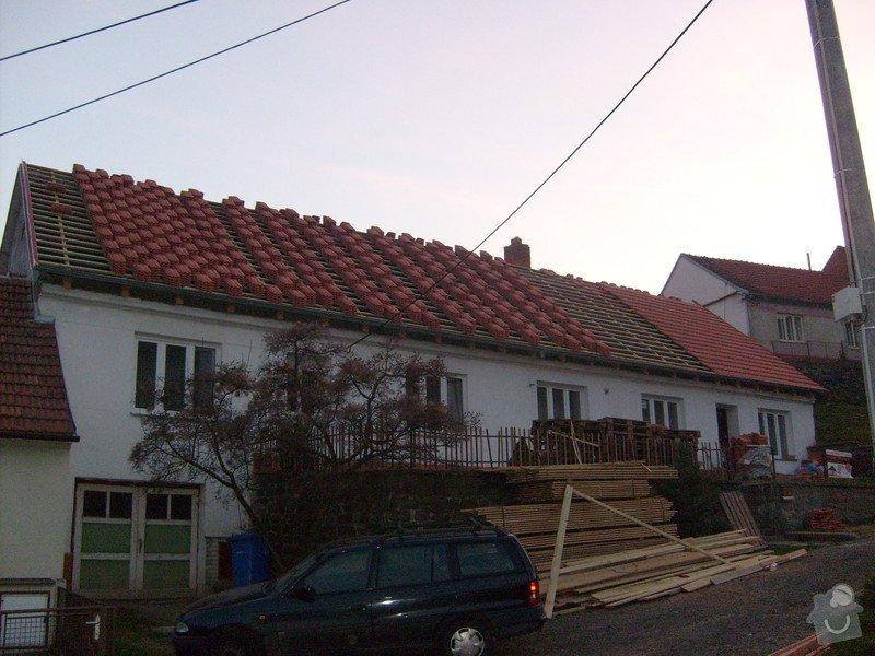 Předmětem zakázky bylo kompletní zhotovení nového krovu dle projektu.: S6303823