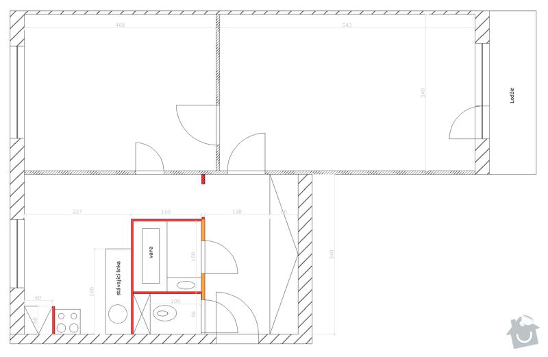 Rekonstrukce bytu 2+1 - bourací práce, jádro, podlahy: Puvodni_stav