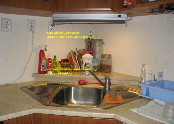 Instalace obkladů kuchyňský kout