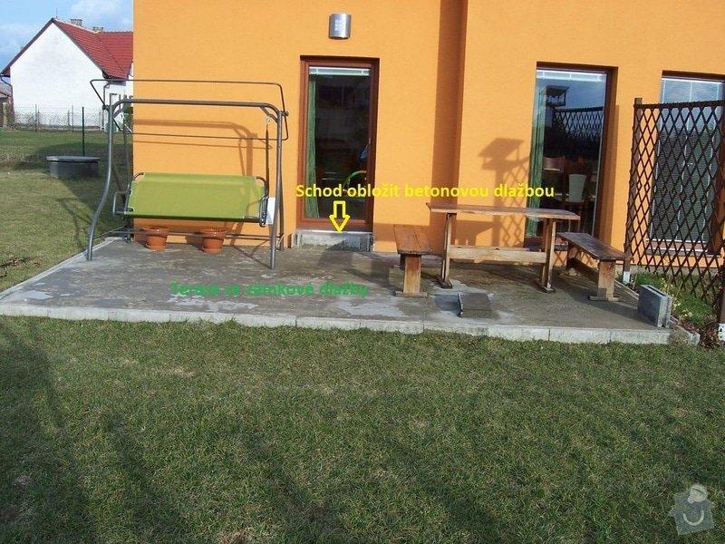 Chodníky ze zámkové dlažby, sokl, obklad podesty dlažbou: chodniky07
