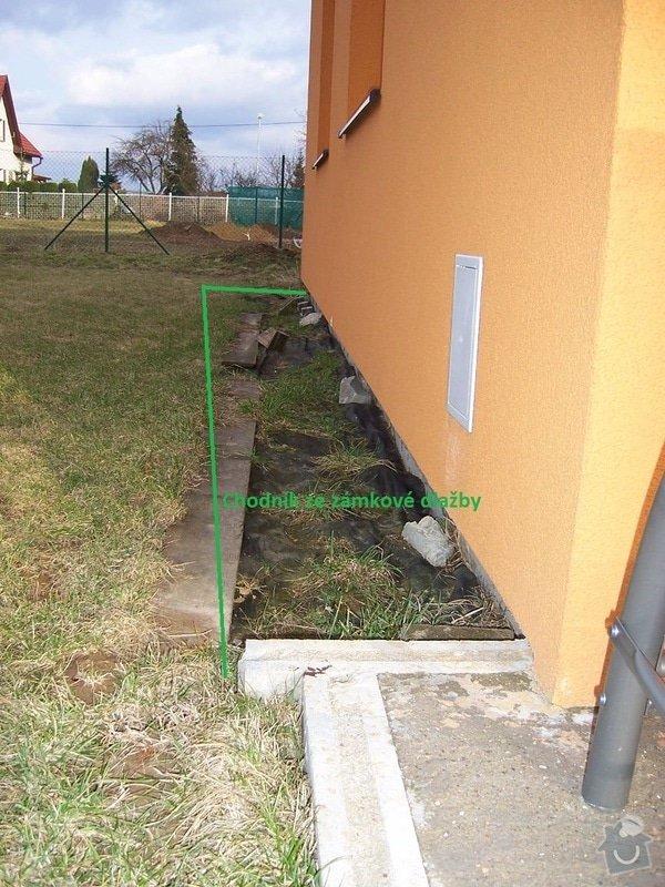 Chodníky ze zámkové dlažby, sokl, obklad podesty dlažbou: chodniky09