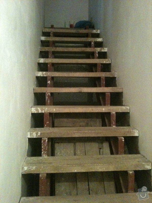 Bukové schodnice: provizorni-schody