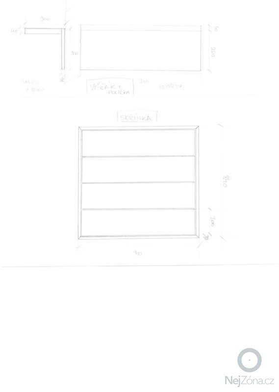 Skříňka do předsíně a věšák s poličkou: skrina-planek