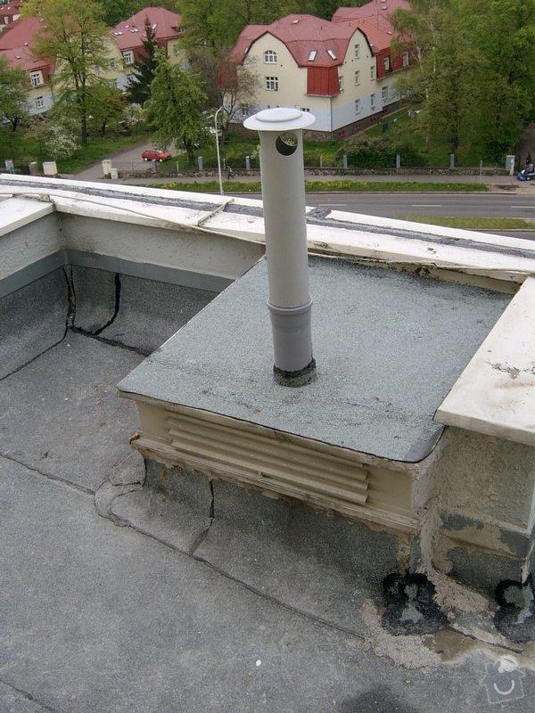 Oprava drobných zatékání ploché střechy - panelový dům: SV400018