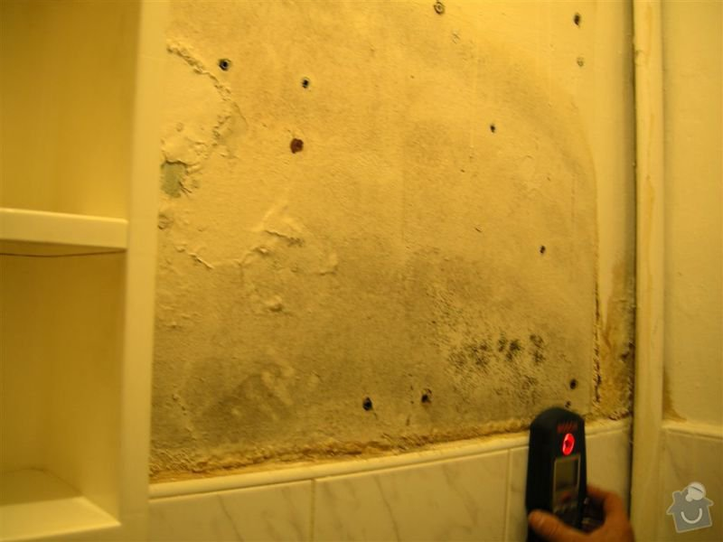 Oprava praskle vodovodni trubky ve zdi: WC_1